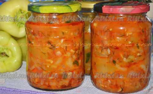 Узнай рецепт салата из помидоров на зиму со